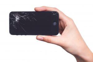 Uszkodzony wyświetlacz iPhone